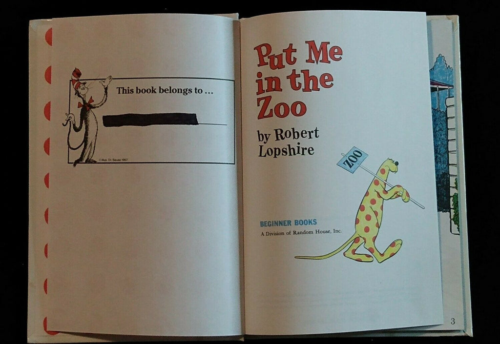 Beginner Books: Put Me in the Zoo by Robert Lopshire (1960, Hardcover) Book Club