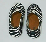 Shoes of Soul Kids Girls Canvas Slip-on Shoes Size 8 Black/White Zebra