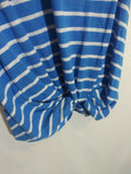 Abound Women's Stripe Twist Front Pocket Medium Blue White
