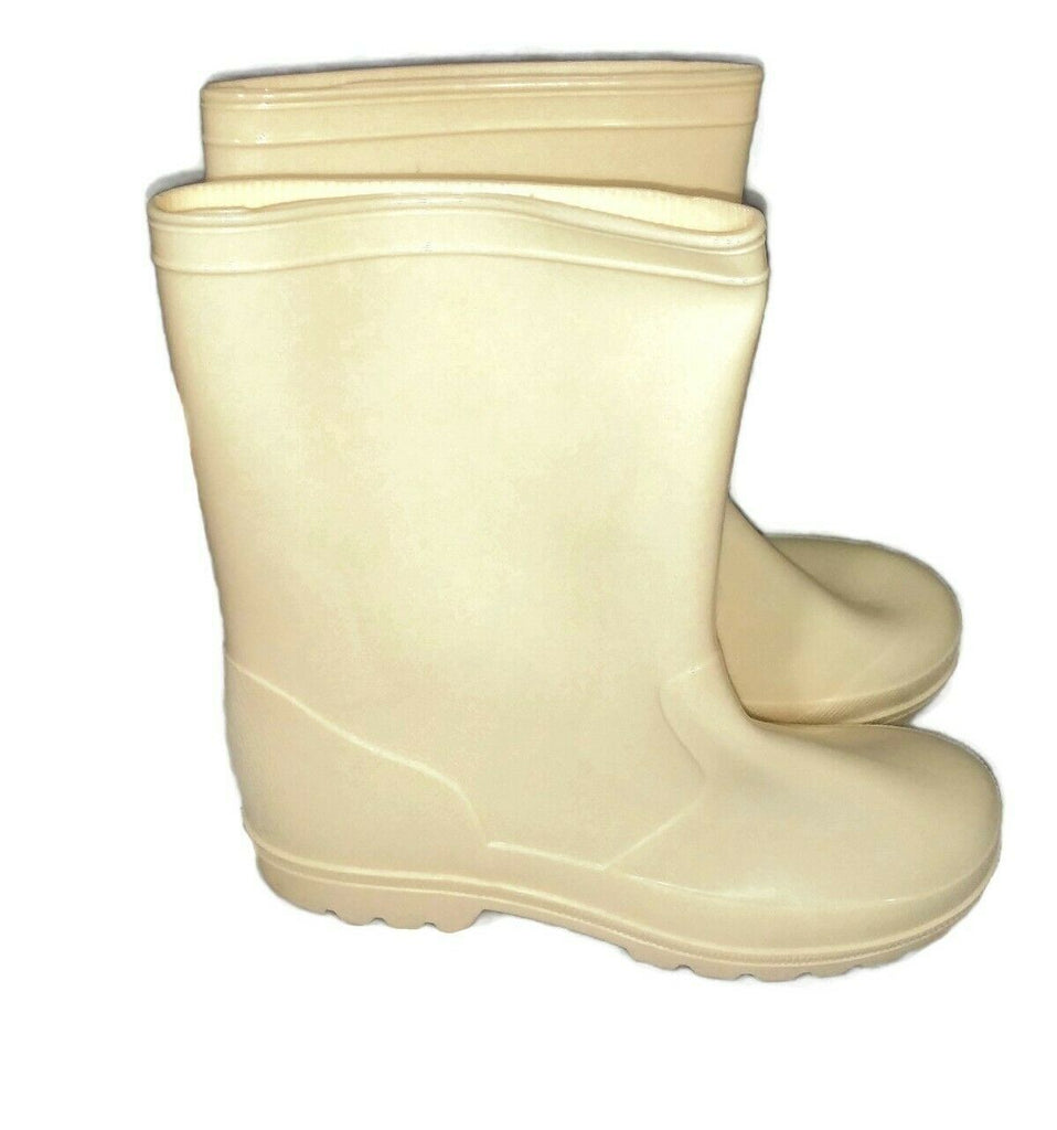 Shoes Of Soul Girls' Kids Children Rubber Rain Boots Size US-1/12 Ivory - STEPSHEY