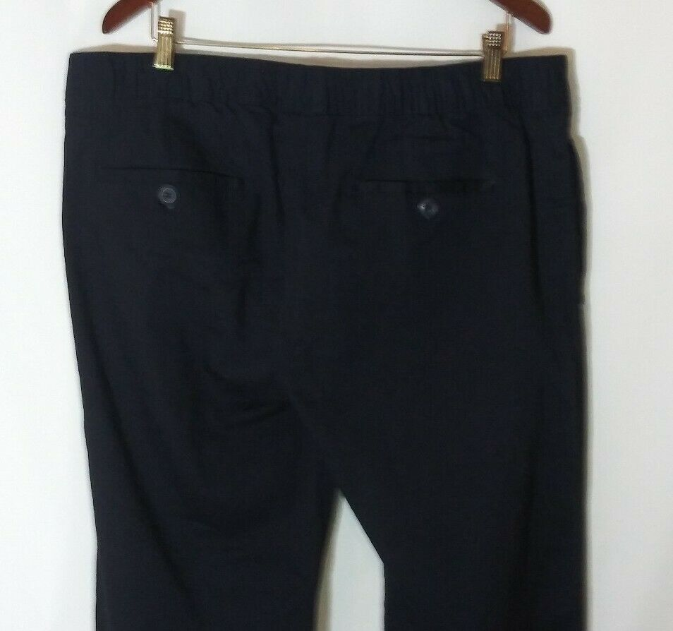 Galaxy by Harvic Men's Casual Cargo Elastic Waist Drawstring Pants Navy 2XL