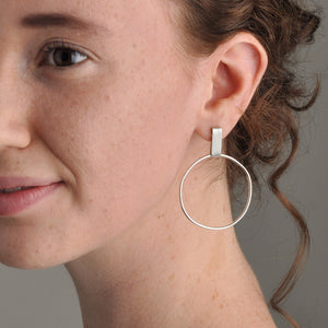 Handmade Recycled Silver Hoop Earrings - Sjaan Maia Jewellery - Geelong