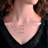Handmade Recycled Silver Beautiful Round Horizon Necklace Stamped - Sjaan Maia Jewellery - Geelong Victoria Australia