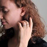 Handmade Recycled Silver Double Dot Beautiful Small Ring - Sjaan Maia Jewellery - Geelong