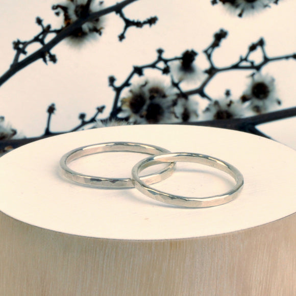 Handmade Recycled Silver Ring Band - Sjaan Maia Jewellery - Geelong