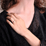 Handmade Recycled Silver Dot Beautiful Small Ring - Sjaan Maia Jewellery - Geelong