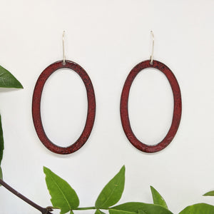 Ellipse Hoops - Merlot