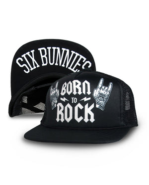 Six Bunnies Born to Rock Snap Back Kids Hat