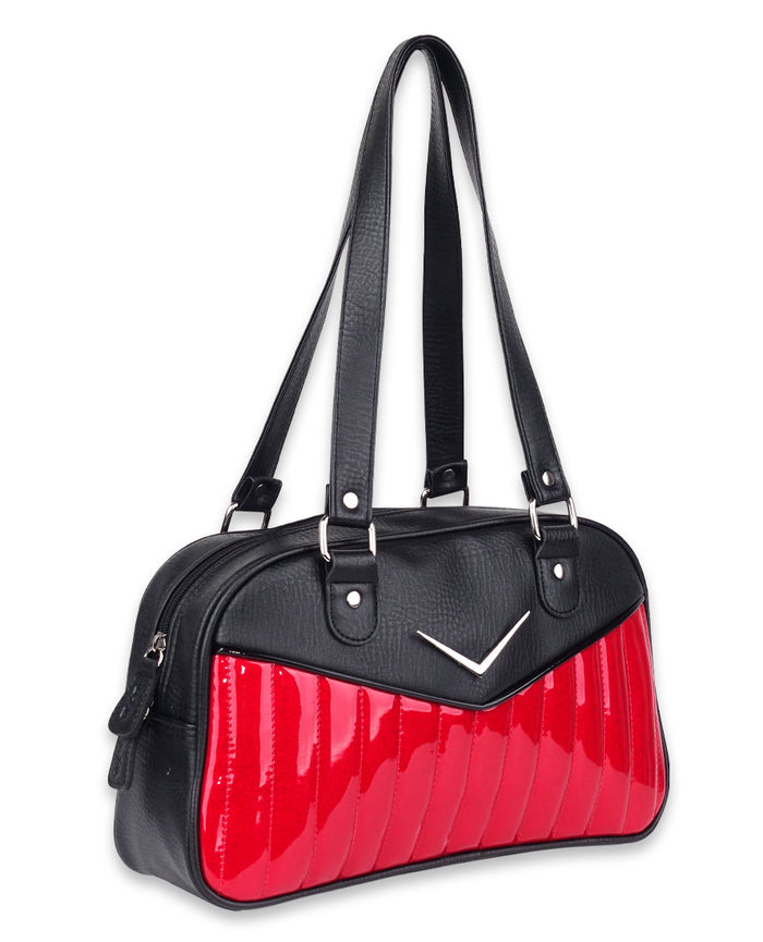 Liquorbrand Bonneville Chevron Bowler Bag-Red