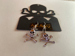 April Made Skull and Cross Bone Earrings