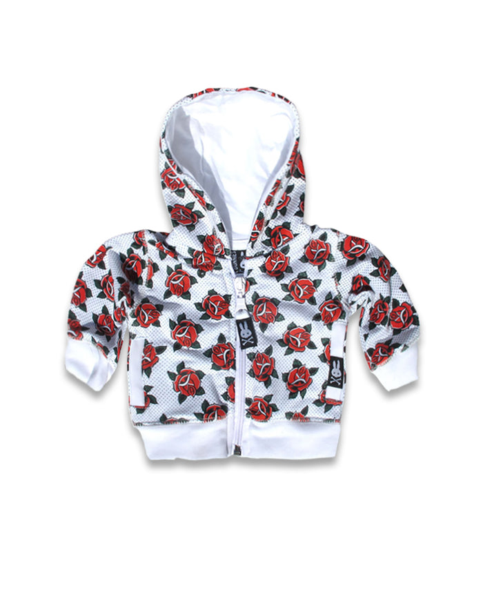 Six Bunnies Roses Baby Hooded Jumper
