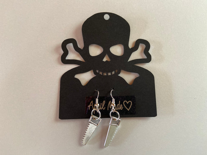 April Made Saw Earrings