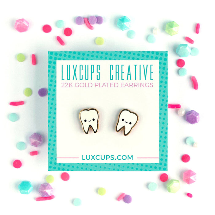 Lux Cups Creative Teeth Earrings