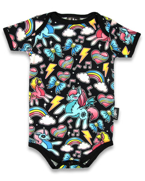 Six Bunnies Unicorns Romper