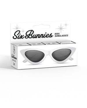 Six Bunnies Kids White Cat Eye Sunglasses