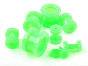 Hollow Green Acrylic Gauge/Tunnel