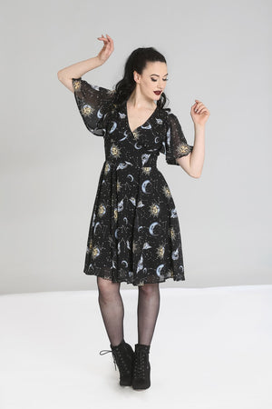Hell Bunny Solaris Dress Black