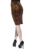 Sourpuss Leopard Pencil Skirt