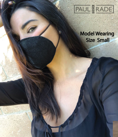 Black Denim Washable Face Mask