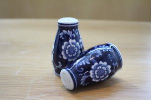 Midnight Flower Salt and Pepper Shaker Set