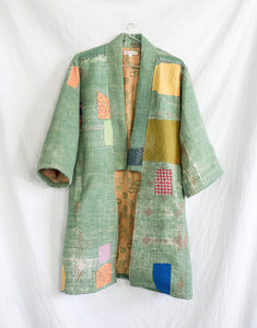 Vintage Kantha Kimono Coat - Fall/Winter 2019, no.9