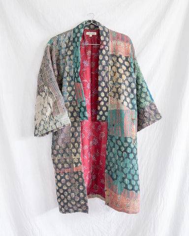 Vintage Kantha Kimono Coat - Fall/Winter 2019, no.10