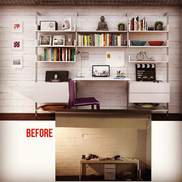 See Your PAL Shelving Design Now!  Send us a Photo of Your Wall...