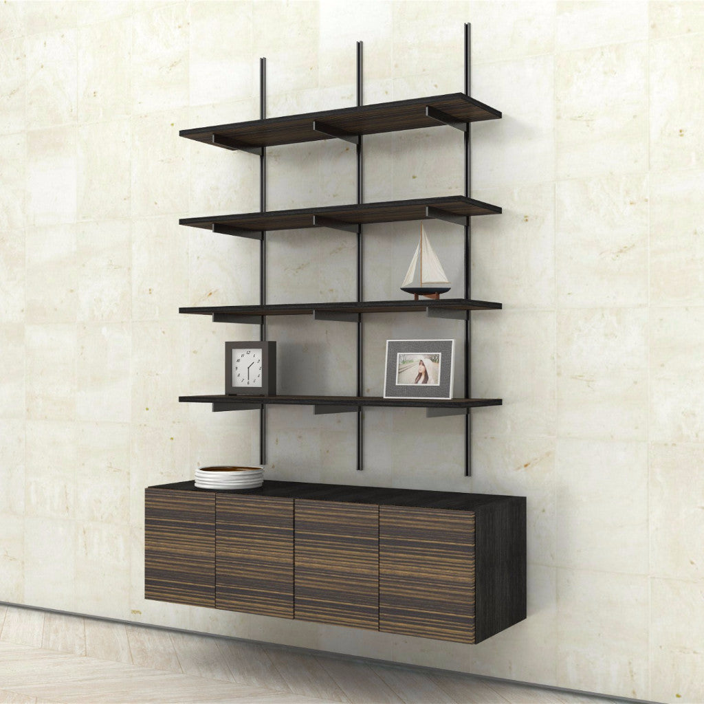 Wall Mounted Shelves with 2Door Cabinets Modern Shelving