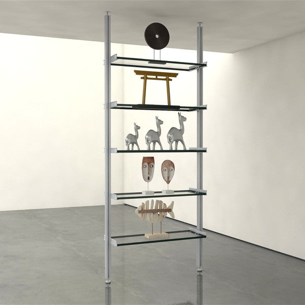 DIV Support Hardware Only 1-Bay Pole Mounted Shelving System