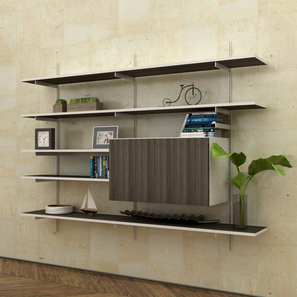 SALE ITEM - Wall Mounted Fold Down Desk with shelves