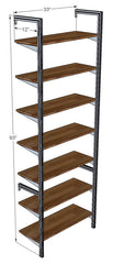 "33"" Wide Single Bay Pole Mounted Shelving System"