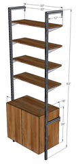 "33"" Wide Single Bay with Base Cabinet & Upper Shelves"