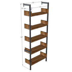 "33"" Wide Single Bay Shelves with Sides"