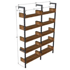 "65"" Wide Two Bay Shelves with Sides"