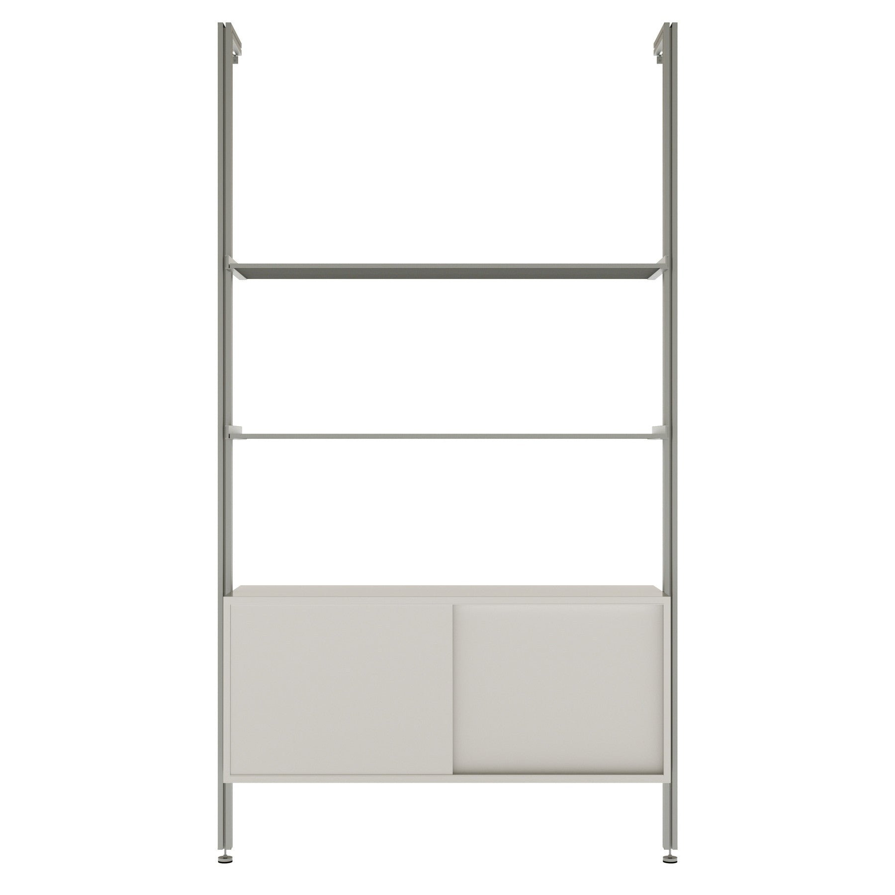 Rad51sld 51 Pole Mounted Retail Aluminum Shelving With Sliding Door