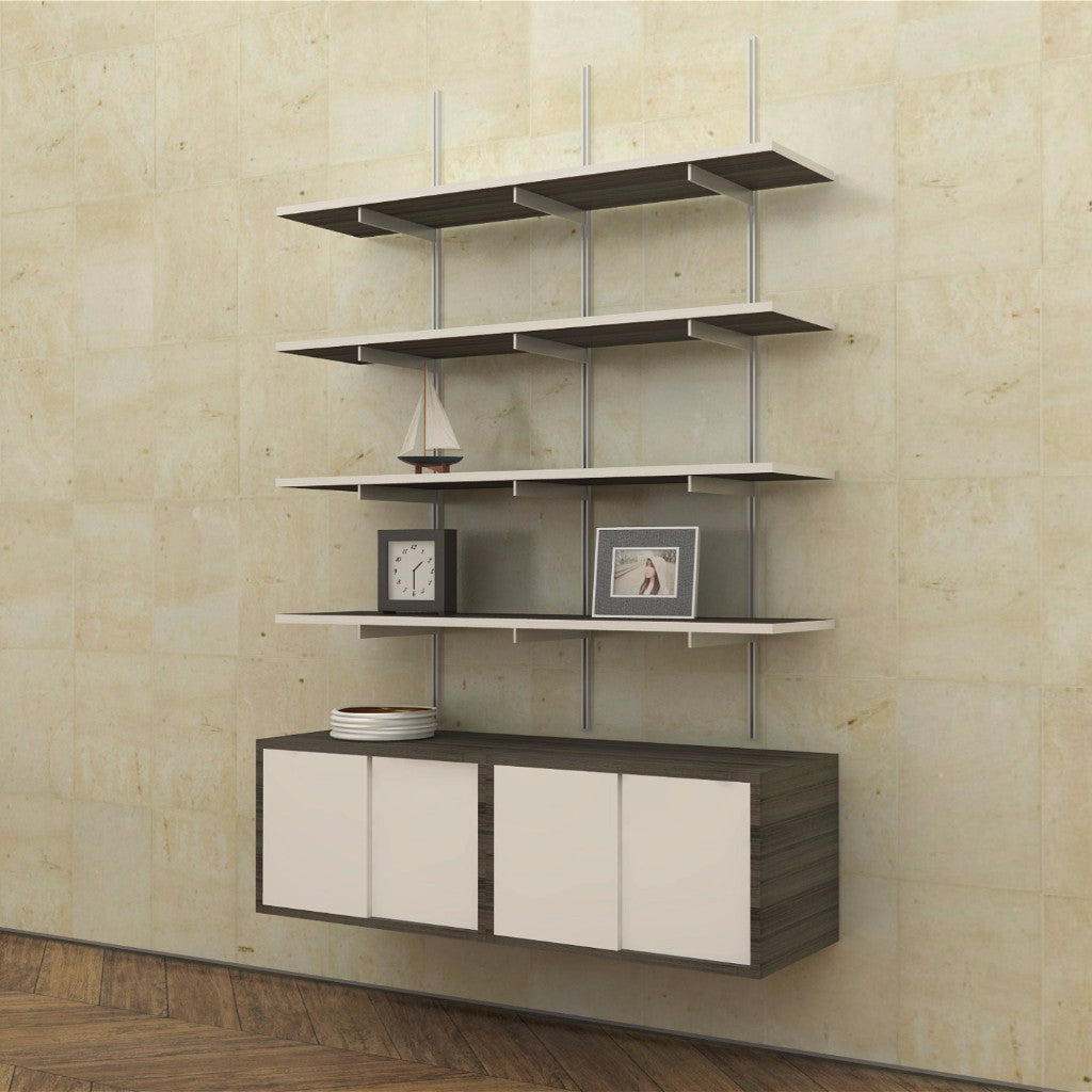 Sale Item Wall Mounted Shelves With Sliding Door Cabinets Modern Shelving
