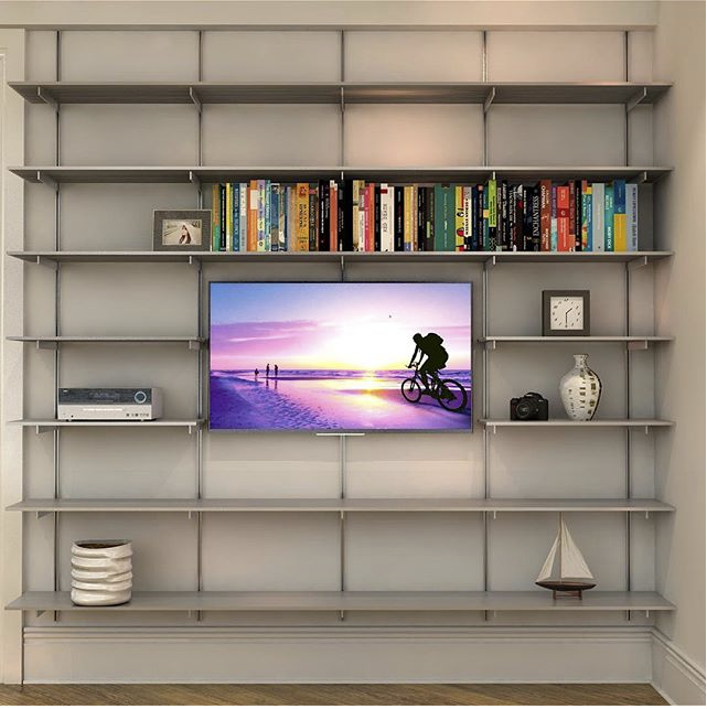 SALE ITEM - Wall Mounted All Aluminum Media Shelving
