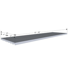 "8"" Deep Aluminum Shelf"