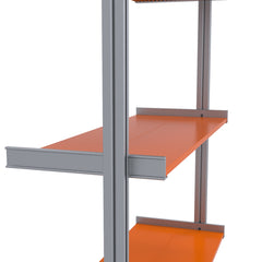 "SALE ITEM  66.5"" Wide 2-Bay Aluminum Shelving"