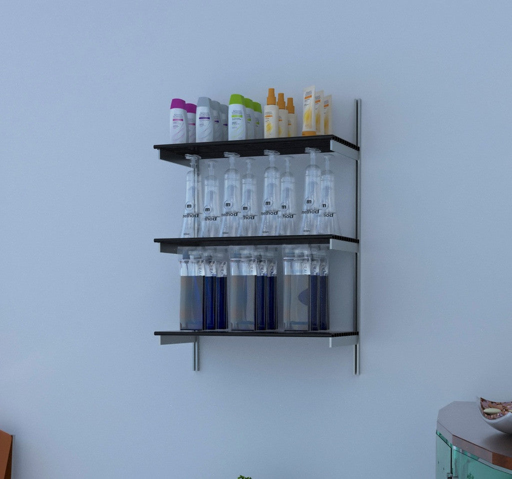 "24"" Wide with 3 Rows of Aluminum Shelves"