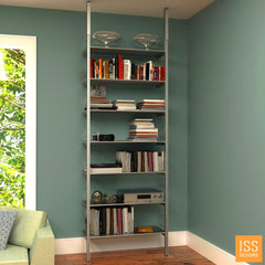 "SALE Item - Compression Pole Mounted 32"" Wide Single Bay Shelving System"
