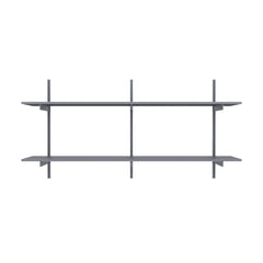 "48"" Wide Wall Mounted Aluminum Shelving"