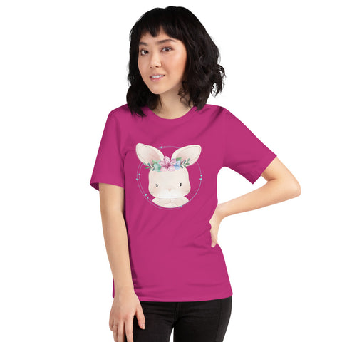Cute Little Bunny With Floral Rabbit Easter Egg Costume Gift T-Shirt