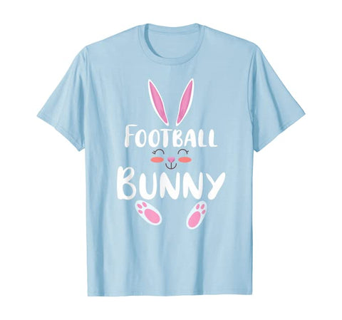 Football Bunny Matching Family Group Easter Day Pajama Gift T-Shirt