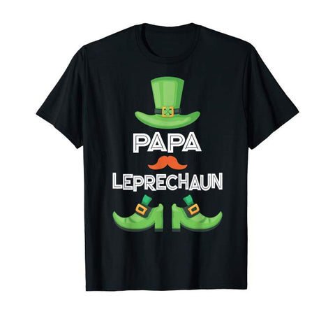 Papa Leprechaun - Family Matching Group Patrick's Party Gift T-Shirt