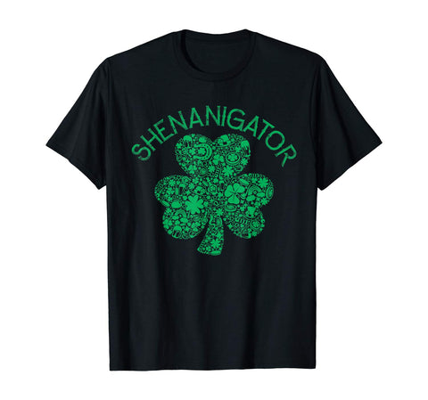 Patrick Party Vintage Shenanigator Irish Shamrock Clover T-Shirt