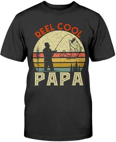 Reel Cool Papa Fisherman Papa Funny Fisher Dad Fishing Unisex T-Shirt