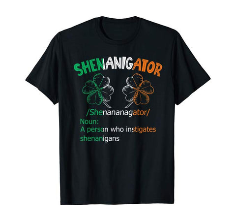 Vintage Shenanigator Clover Irish Shamrock Boobs Patrick Day T-Shirt