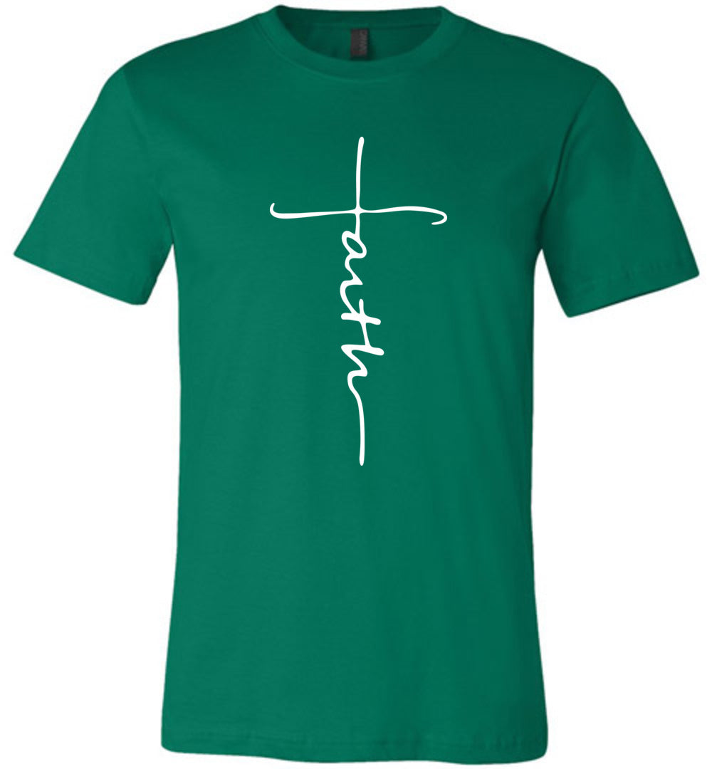 Faith Cross T-Shirt Christian TShirt for Men Women Kids- Unisex TShirt - Make better shirt