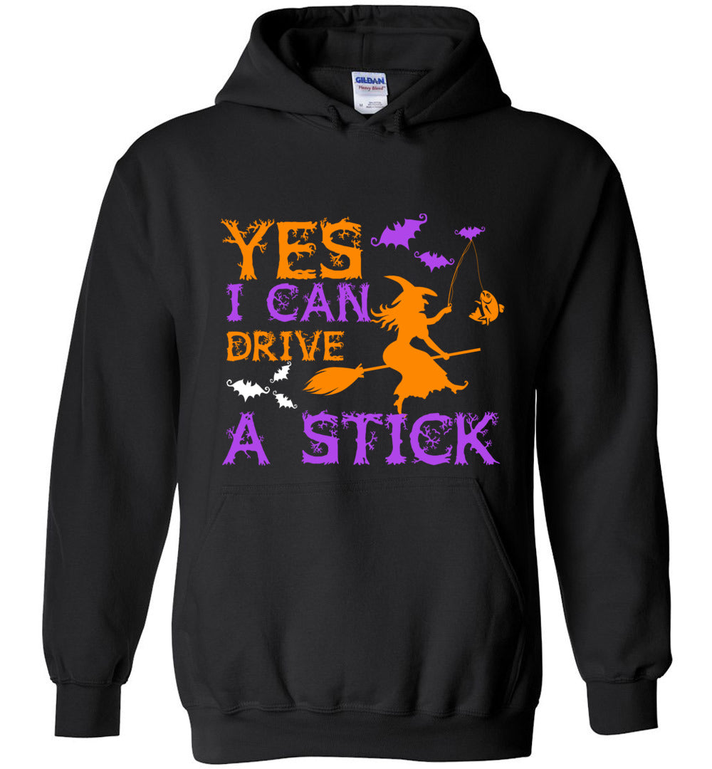 Yes I Can Drive a Stick Funny Halloween Costume Gift Heavy Blend Hoodie - Make better shirt